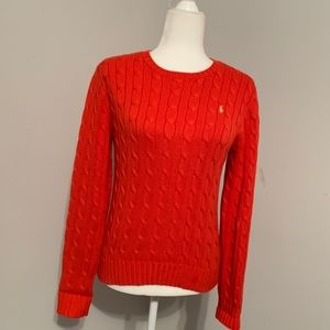 Ralph Lauren Red Cable-knit Sweater - Size M
